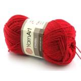 Włóczka Etamin Yarn Art kolor czerwony 434