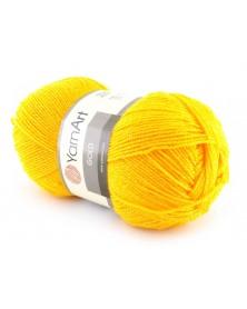 Włóczka Gold Yarn Art kolor żółty z żółtą nitką 47