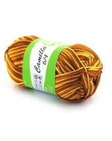 Włóczka Camilla melanż kolor 172 odcienie brązów